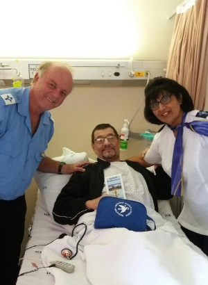 Visiting ill or injured seafarers in hospital, Durban Sailors Society, appearing in Africa PORTS & SHIPS maritime news