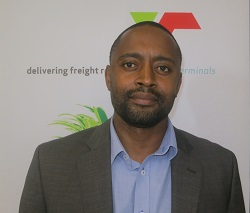 Transnet Port Terminals' GM Operations, Julani Dube, appearing in Africa PORTS & SHIPS maritime news
