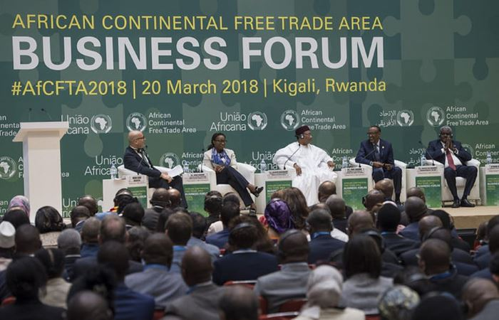 African leaders met recently in Kigale to sign the AfCFTA agreement, featuring in Africa PORTS & SHIPS maritime news
