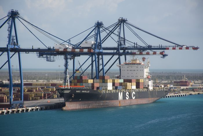 MSC Aniello at Bahamas Freeport. Picture: Tony de Freitas, appearing in Africa PORTS & SHIPS maritime news