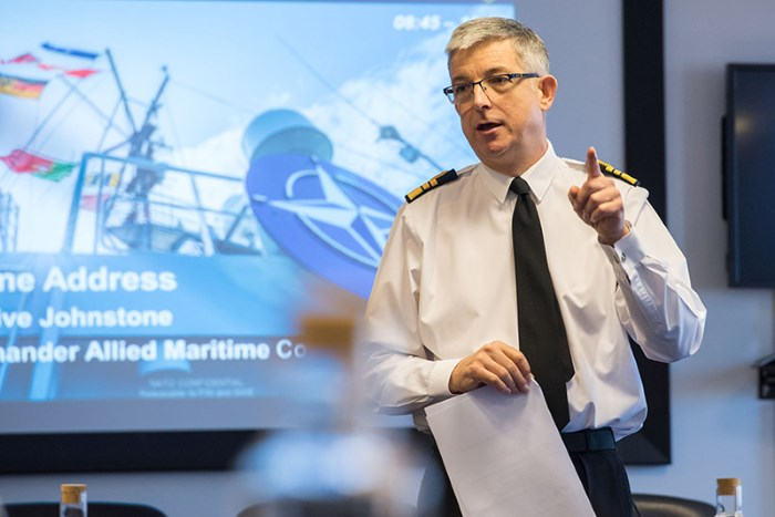 Vice-Admiral Clive Johnstone NATO Maritime Commander at Northwood. Photo: NATO ©, featured in Africa PORTS & SHIPS maritime news