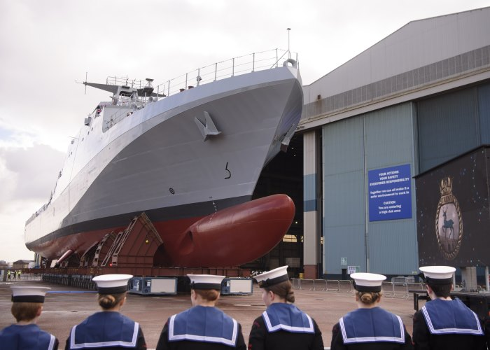 HMS Trent naming, Photographs MoD Crown Copyright 2018 ©, appearing in Africa PORTS & SHIPS maritime news