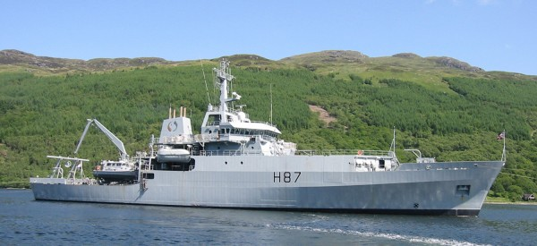 Hydrographic survey ship in Royal Navy service, similar to the design chosen for the SA Navy as per Project Hotel. Southern Africa Shipyards will build the ship. Featured in Africa PORTS & SHIPS maritime news