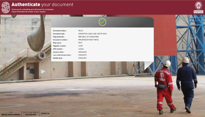 e-certificates now delivered by email or accessible via the My VeriSTAR mobile application and the VeriSTAR Info desktop portal. Featured in Africa PORTS & SHIPS maritime news
