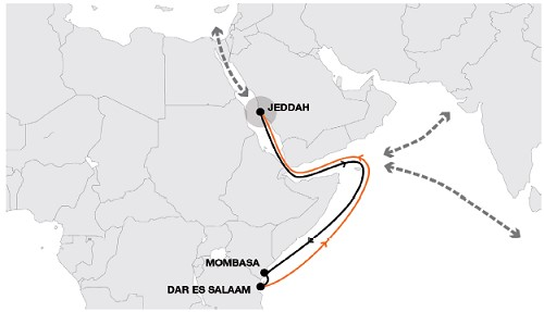Hapag-Lloyd's new EAS service port rotation, appearing in Africa PORTS & SHIPS maritime news