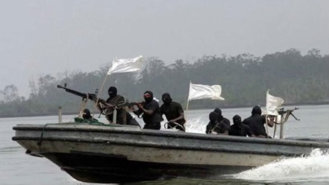 well-armed NIgerian pirates, featured in Africa PORTS & SHIPS maritime news