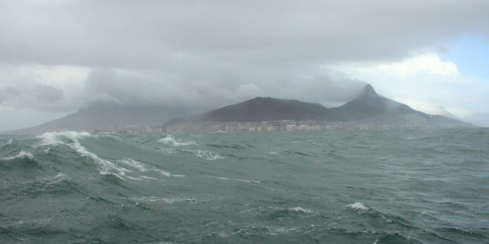 Angry Cape waters - not for nothing is the Cape also known as the Cape of Storms, from a report appearing in Africa PORTS & SHIPS maritime news