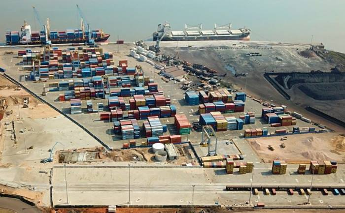 Maputo Container Terminal. Picture courtesy DP World, appearing in a rport in Africa PORTS & SHIPS maritime news