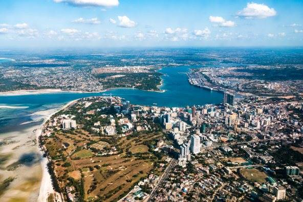 Port city of Dar es Salaam, appearing in Africa PORTS & SHIPS maritime news