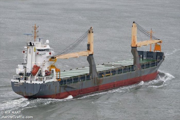 FWN Rapide, by Ria Maat-MarineTraffic, appearing with a report in Africa PORTS & SHIPS maritime news