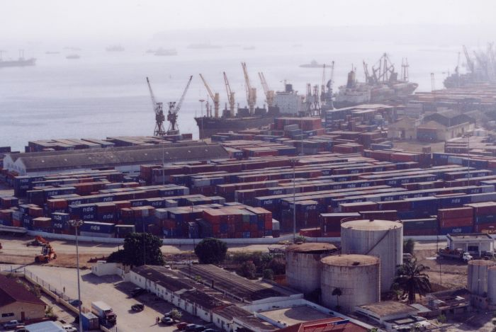 Luanda harbour scene, from a report in Africa PORTS & SHIPS maritime news
