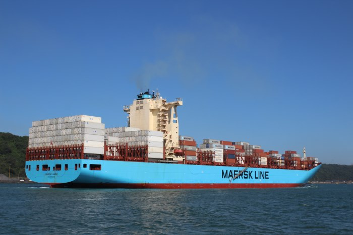 Maersk Lanco arriving in Durban harbour, April 2018, featured in Africa PORTS & SHIPS maritime news