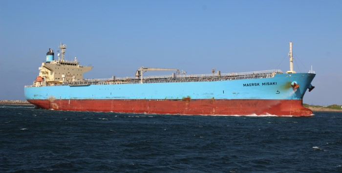 Maersk Misaki in Durban, appearing with Africa PORTS & SHIPS maritime news