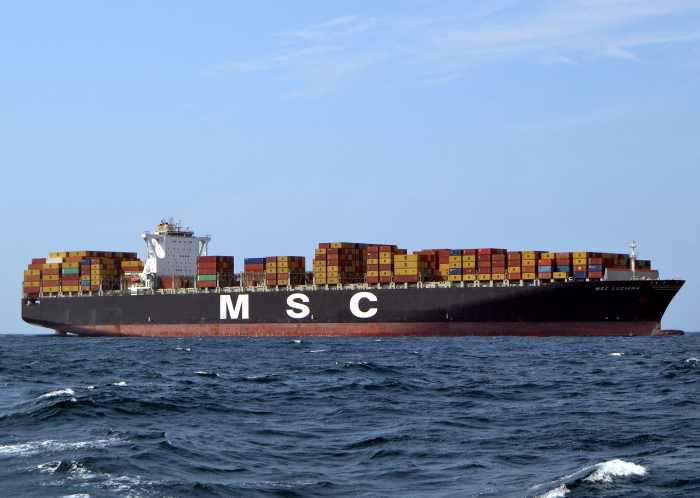 MSC Luciana off Durban. Picture: Ken Malcolm, appearing in Africa PORTS & SHIPS maritime news