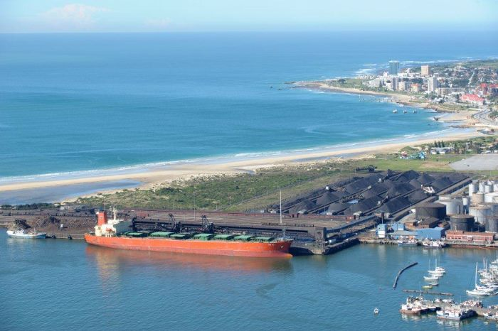 The Manganese Ore Terminal at Port Elizabeth. Picture: TPT, from a report in Africa PORTS & SHIPS maritime news