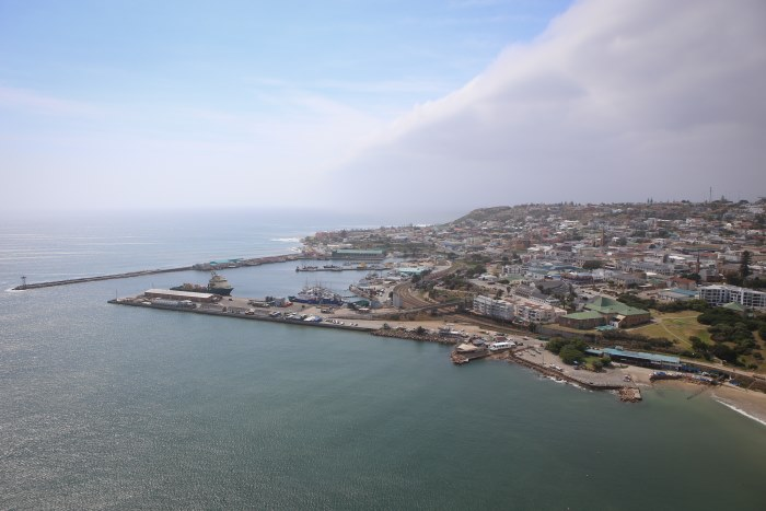 Mossel Bay, South Africa's oldest port, where two dead Bryde's Whales have provided a mystery, ina story appearing in Africa PORTS & SHIPS maritime news