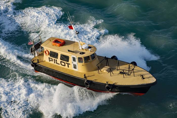 Pilot Boat at Miami, by Tony de Freitas, appraing with a feature in Africa PORTS & SHIPS maritime news