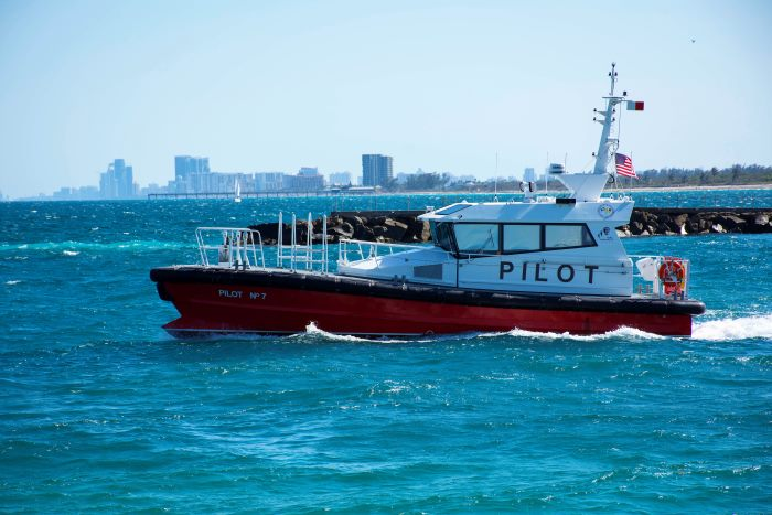 Pilot Boat 7 at Port Everglades, by Tony de Freitas, appraing with a feature in Africa PORTS & SHIPS maritime news