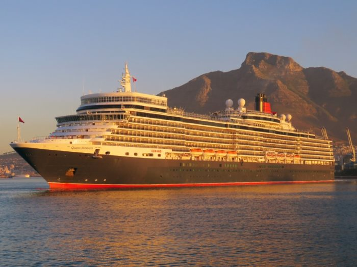 Queen Elizabeth in Cape Town harbour April 2017. Picture: Ian Shiffman from a feature in Africa PORTS & SHIPS maritime news