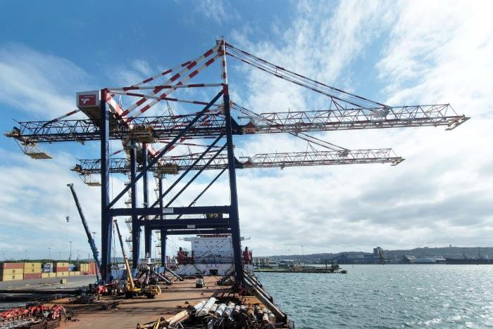 STYS cranes for Durban ex Port of Ngqura. Picture by Zamendelu Mncwango