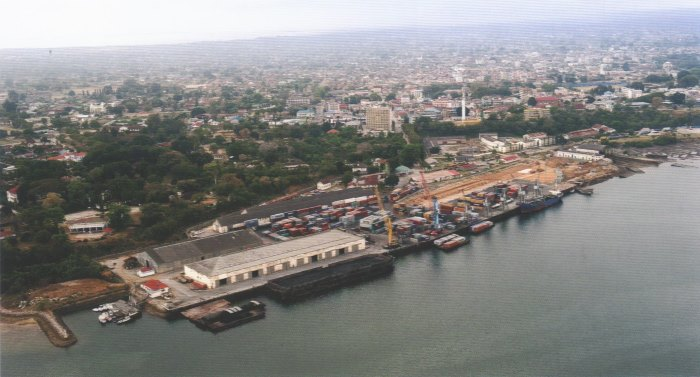 Port of Tanga showing lighters alongside the berths, appearing in Africa PORTS & SHIPS maritime news