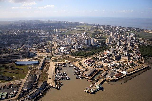 Beira's old fishing port befre restoration recently carried out and now completing, from an article in Africa PORTS & SHIPS maritime news