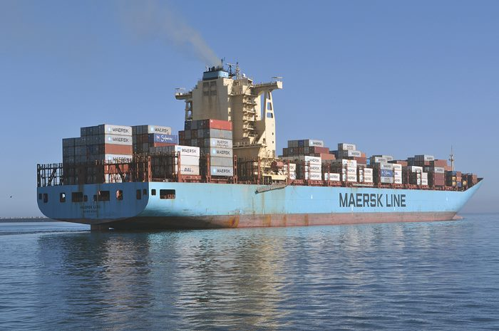 Maersk Lebu in Cape Town.    Picture: Ian Shiffman, appearing in Africa PORTS & SHIPS maritime news