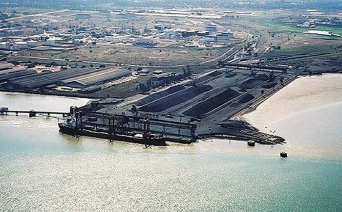 Matola coal terminal, Maputo, from a story appearing in Africa PORTS & SHIPS maritime news