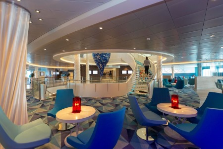 One of the new lounge's in Mein Schiff 1, from a report appearing in Africa PORTS & SHIPS maritime news