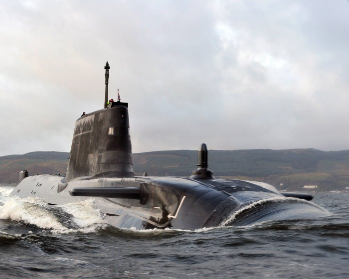 HMS Astute sails up the Clyde estuary into her home port of Faslane, Scotland for the first time following the journey from Barrow-in-Furness shipyard. Photo: MoD Crown Copyright 2018 © From a news report carried in Africa PORTS & SHIPS maritime news