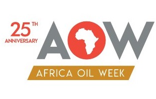 Africa Oil Week 2018 banner, appearing with a report in Africa PORTS & SHIPS maritime news