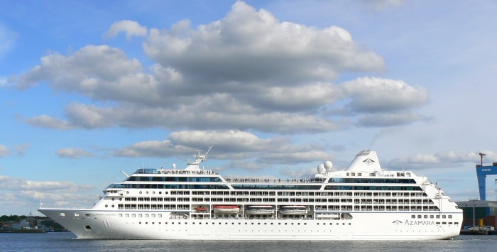 Azamara Journey which will cruise in South African waters from December 2020, from a report appearing in Africa PORTS & SHIPS maritime news