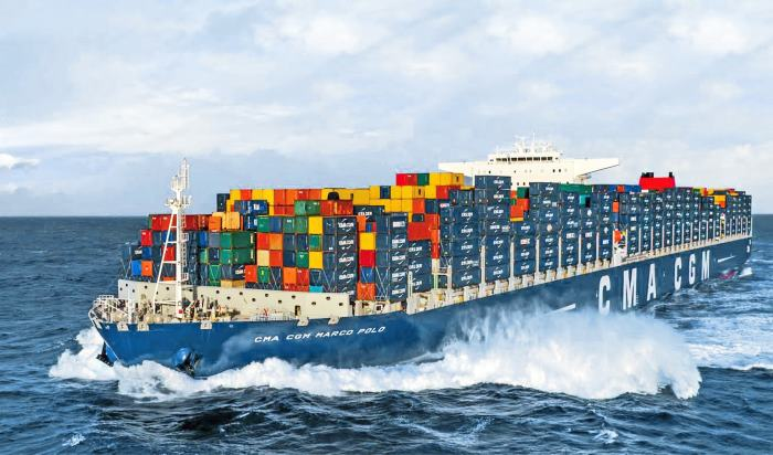 CMA CGM Marco Polo, appearing with a news report in Africa PORTS & SHIPS maritime news
