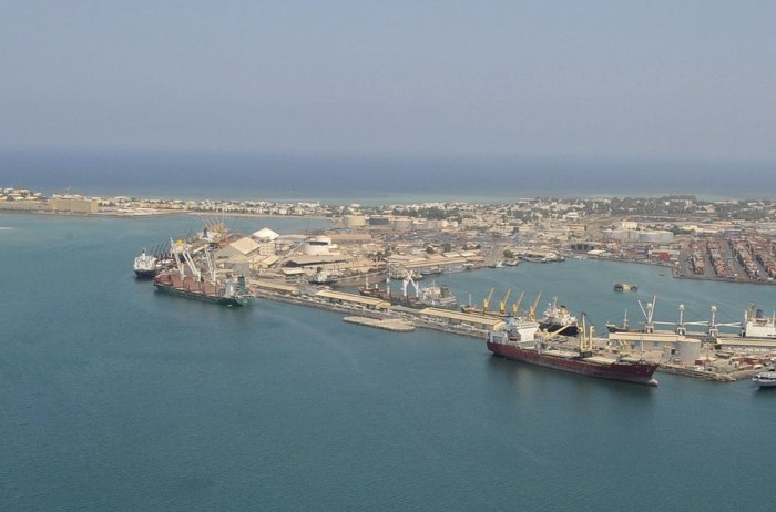 Port and town of Djibouti, appearing with a news report in Africa PORTS & SHIPS maritime news