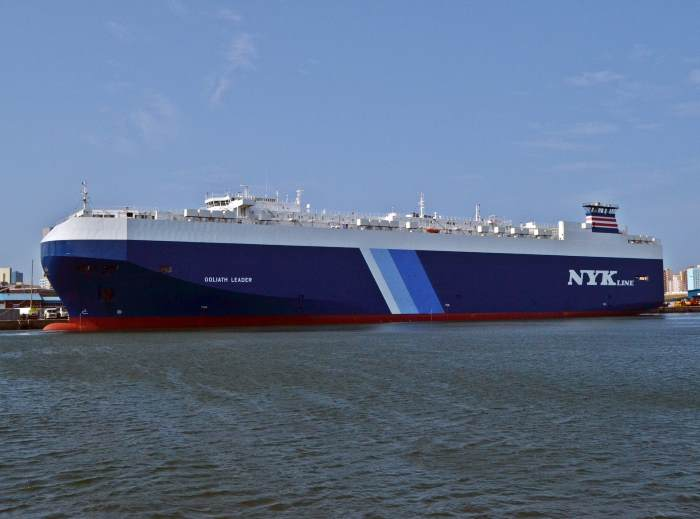 NYK RoRo car carrier Goliath Leader in Durban, April 2018.     Picture: Ken Malcom, feaured  in Africa PORTS & SHIPS maritime news