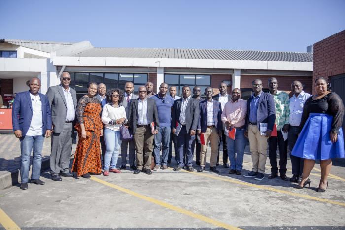 Ghanaian and Transnet officials during port visit at Durban