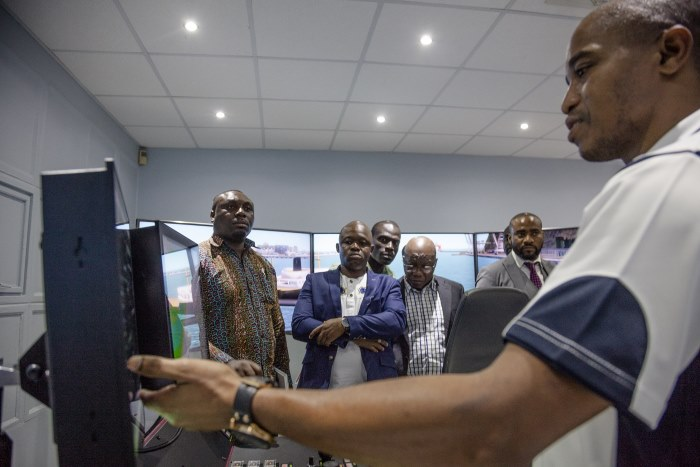 Ghanaian and Transnet officials during port visit at Durban, from a report appearing in Africa PORTS & SHIPS maritime news