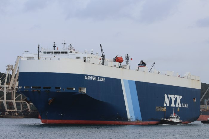 Kariyushi Leader, as featured in Africa PORTS & SHIPS mritime news. Picture: Keith Betts