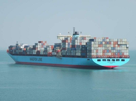 Maersk Line container ship (Maersk Carolina), accompanying a story in Africa PORTS & SHIPS maritime news