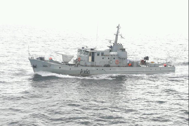 NNS Andoni, locally-built Nigerian Navy patrol boat, appearing in a news story in Africa PORTS & SHIPS maritime news