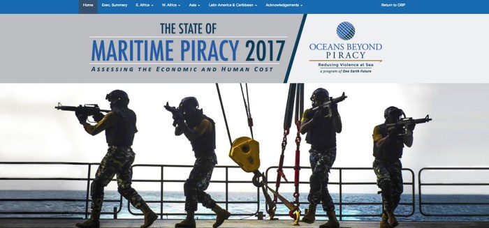 OEF report on piracy, preview appearing in Africa PORTS & SHIPS maritime news