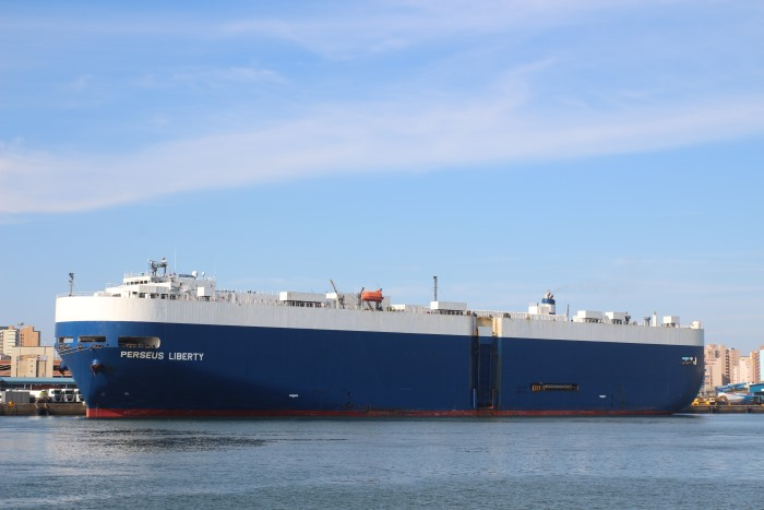 Perseus Liberty. Picture: Keith Betts, appearing in a feature in Africa PORTS & SHIPS maritime news