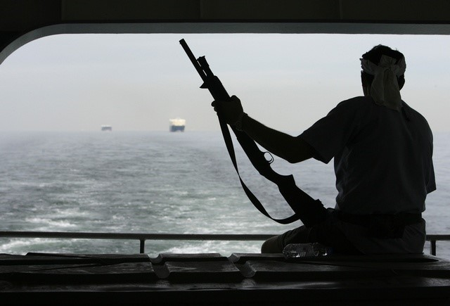 Sometimes the mere display of an armed guard on board ship is enough to deter pirates, from an article appearing in Africa PORTS & SHIPS maritime news