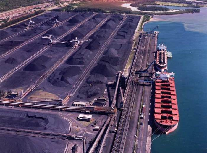 Richards Bay Coal Terminal scene, as appearing in Africa PORTS & SHIPS maritime news. Picture by Chas Corbett Photography