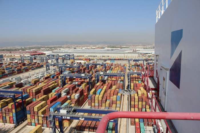 BEST container terminal at the Port of Barcelona, appearing in a report in Africa PORTS & SHIPS maritime news