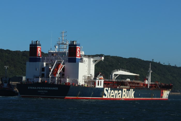 Stena Performance entering Durban, by Kieth Betts, appearing in Africa PORTS & SHIPS maritime news