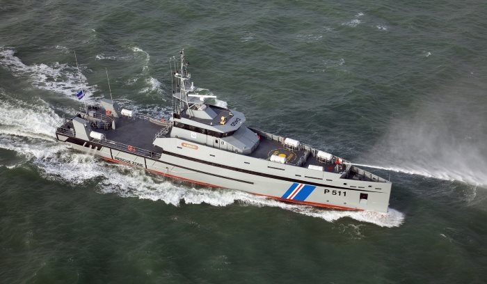 Damen Stan patrol boat, as ordered by Somalia with order now in dispute, as reported in Africa PORTS & SHIPS maritime news
