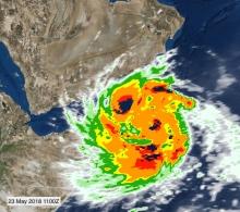 Cyclone Mekunu, as appearing in Africa PORTS & SHIPS maritime news