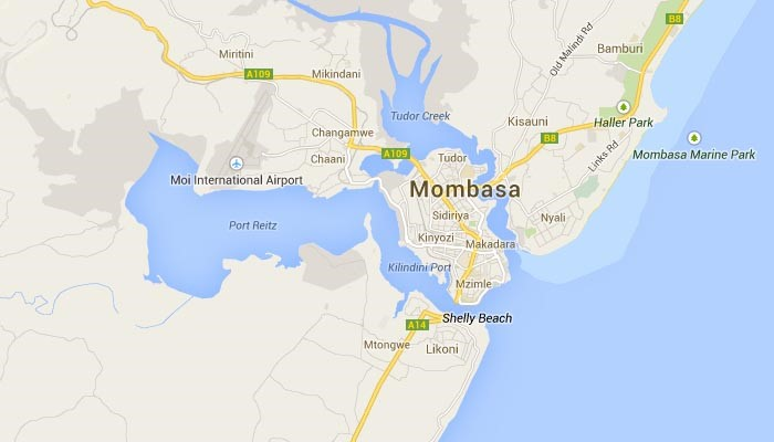 Mombasa port and city map, as appearing in report in Africa PORTS & SHIPS maritime news