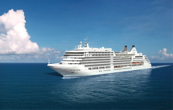Silver Muse, first of the 40,700-gt class cruise ships for Silversea Cruises, appearing with Africa PORTS & SHIPS maritime news
